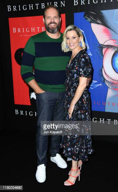 """David Denman and Elizabeth Banks attend Sony Pictures' """"Brightburn"""" Photo Call at Four Seasons Los Angeles at Beverly Hills on May 18, 2019 in Los..."""