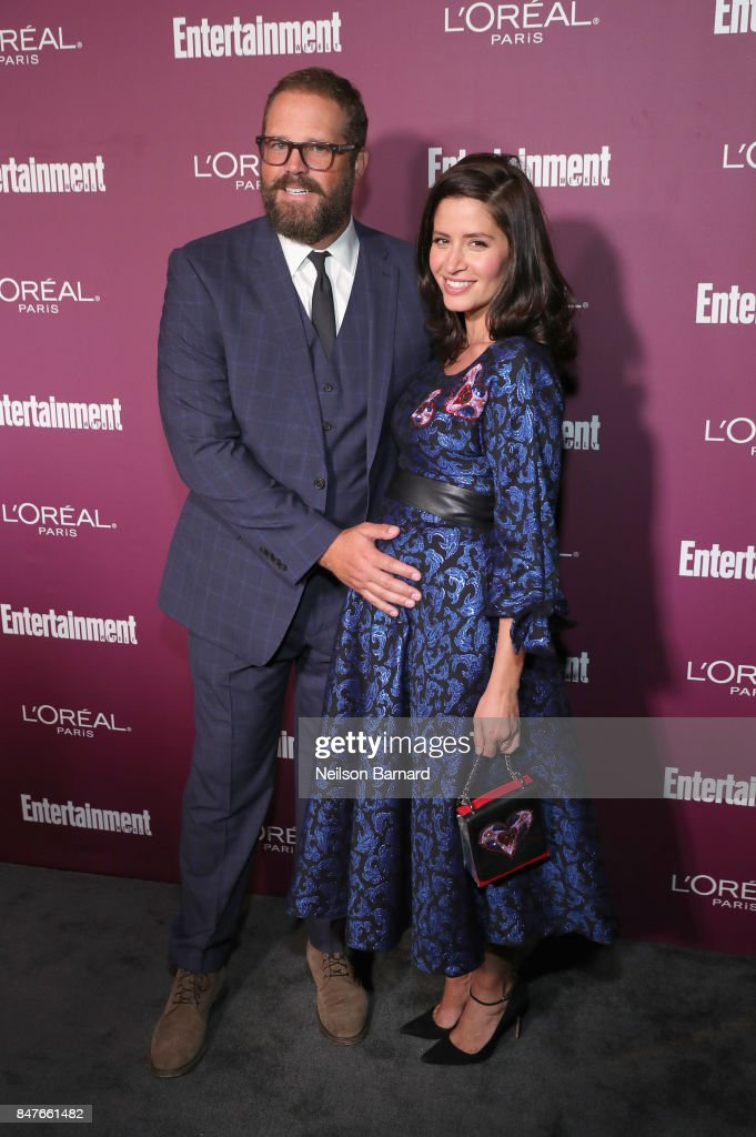 David Denman (L) and Mercedes Masohn attend the 2017 Entertainment Weekly Pre-Emmy Party at Sunset Tower on September 15, 2017 in West Hollywood, California.