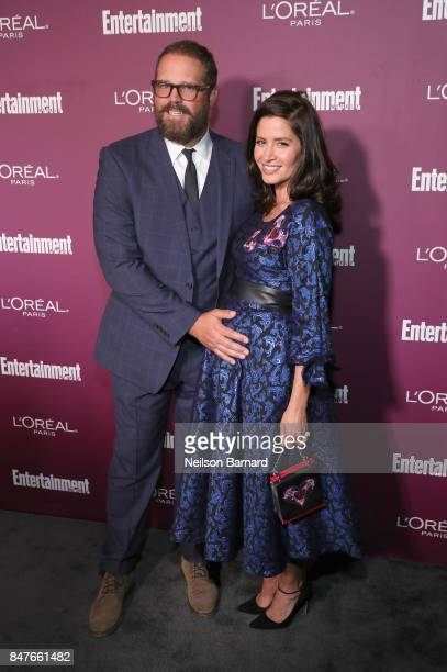 David Denman and Mercedes Masohn attend the 2017 Entertainment Weekly Pre-Emmy Party at Sunset Tower on September 15, 2017 in West Hollywood,...
