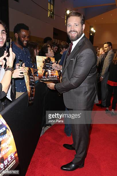David Denman attends the Miami Fan Screening of the Pramount Pictures film '13 Hours' at the AMC Aventura on January 7 2016 in Miami Florida