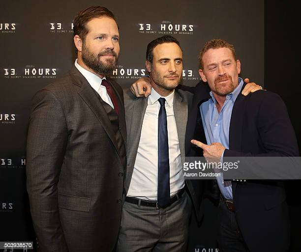 David Denman Dominic Fumusa Max Martini attends Miami Special Screening of '13 Hours The Secret Soldiers of Benghazi' at Aventura Mall on January 7...