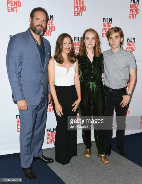 David Denman Kelly Macdonald Liv Hewson and Austin Abrams attend premiere of Sony Pictures Classics' Puzzle at Writers Guild Theater on July 16 2018...