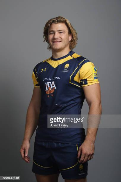 David Denton of Worcester poses for a portrait during the Worcester Warriors Photocall for the 20172018 Aviva Premiership Rugby season at Sixways...