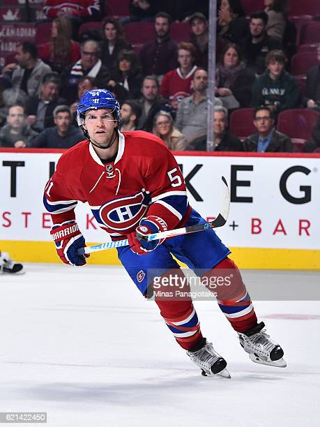 David Desharnais of the Montreal Canadiens skates during the NHL game against the Vancouver Canucks at the Bell Centre on November 2 2016 in Montreal...