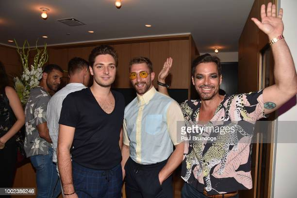 David Devos and Mark Silver attend Brian Feit's 40th Birthday Party at 550 West 29th Street on July 19 2018 in New York City