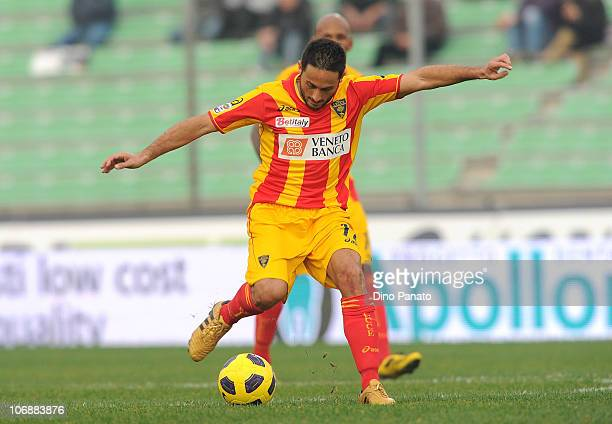 David Di Michele of Lecce in action during the Serie A match between Udinese and Lecce at Stadio Friuli on November 14, 2010 in Udine, Italy.