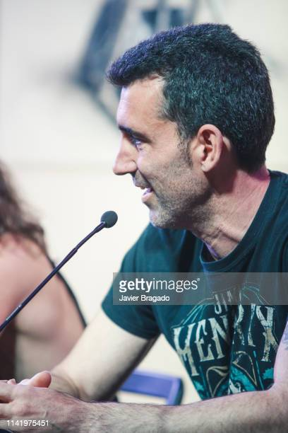 David Diaz aka Kolibri attends the press conference to present Marea's new album 'El Azogue' and their new tour on April 11 2019 in Madrid Spain
