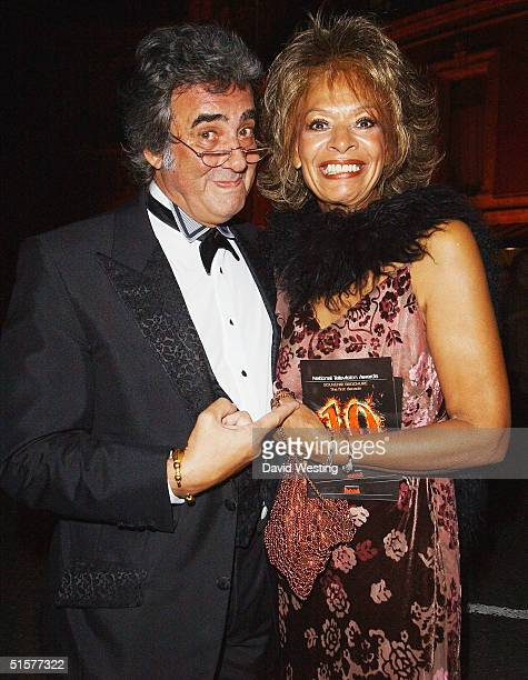 David Dickinson and wife Lorne Lesley leave the 10th Anniversary National Television Awards at the Royal Albert Hall on October 26 2004 in London The...