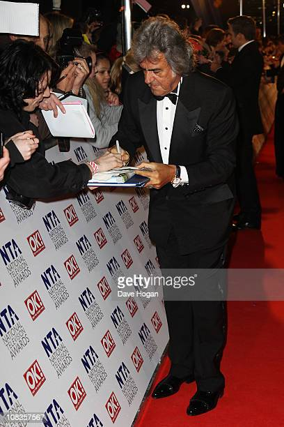 David Dickinson attends the National Television Awards 2011 held at Indigo at The O2 Arena on January 26 2011 in London England
