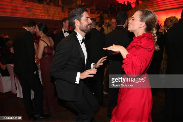 David Dietl Alicia von Rittberg dance during the 46th German Film Ball party at Hotel Bayerischer Hof on January 26 2019 in Munich Germany
