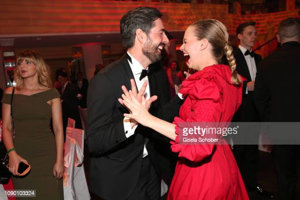 David Dietl, Alicia von Rittberg dance during the 46th German Film Ball party at Hotel Bayerischer Hof on January 26, 2019 in Munich, Germany.
