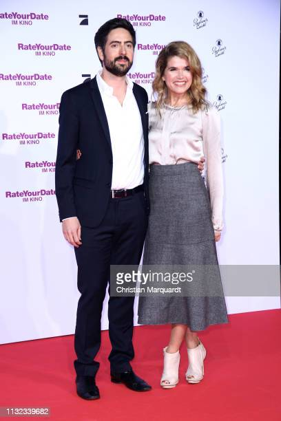 David Dietl and Anke Engelke attends the 'Rate Your Date' premiere at CineStar on February 26 2019 in Berlin Germany