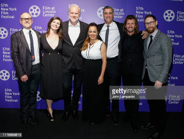 David Diliberto Hannah Chodos Tim Robbins Sabra Williams Chris Bisbano Jeremie Loncka and Neil Stelzner pose during 45 Seconds Of Laughter at 57th...
