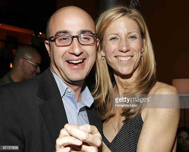 David Dinerstein and producer Amy Sewell attend the 'Mad Hot Ballroom' screening after party at the Tribeca Film Festival April 29 2005 in New York...