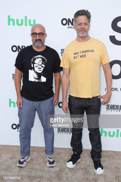 """David Dinerstein and Robert Fyvolent attends a Cinespia Special Screening Of Fox Searchlight And Hulu's """"Summer Of Soul"""" With Questlove at The Greek..."""