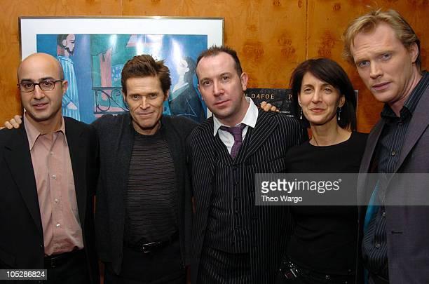 David Dinerstein, Co-Pres. Paramount Classics, Willem Dafoe, Paul McGuigan(, Director, Ruth Vitale, Co-Pres. Paramount Classics and Paul Bettany