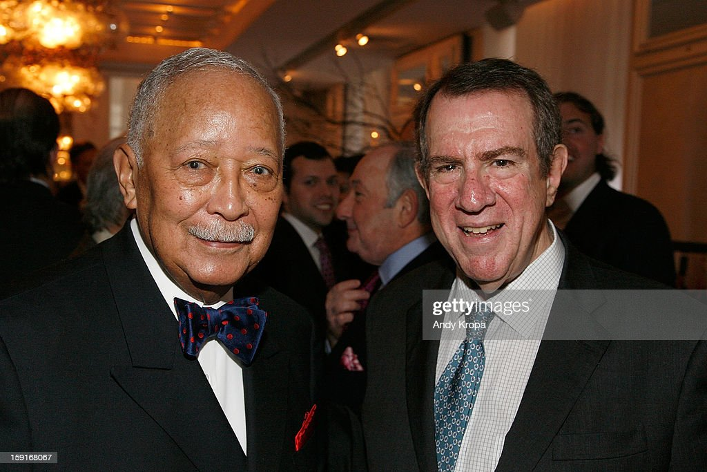 David Dinkins and Andrew Tisch attend Loews Regency Hotel's Inaugural Power Breakfast at Park Avenue Winter on January 9, 2013 in New York City.