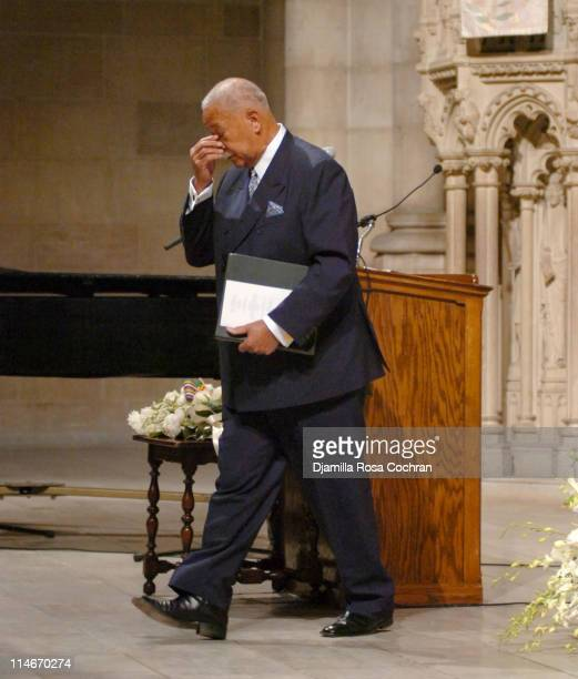 David Dinkins at Riverside Church during the funeral service for Photographer Gordon Parks on March 14 2006 in New York City