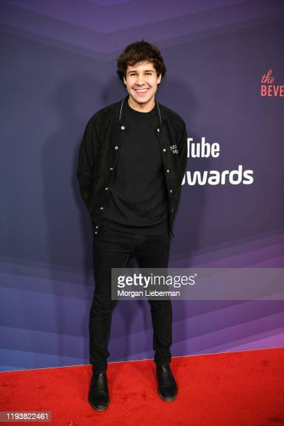 David Dobrik arrives at the 9th Annual Streamy Awards at The Beverly Hilton Hotel on December 13 2019 in Beverly Hills California