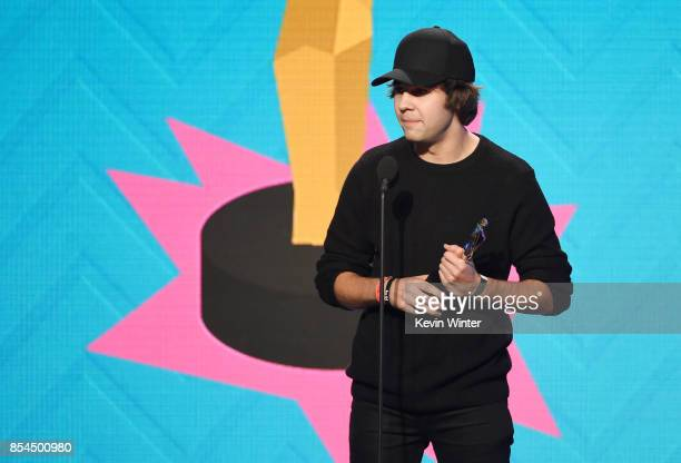 David Dobrik at the 2017 Streamy Awards at The Beverly Hilton Hotel on September 26 2017 in Beverly Hills California