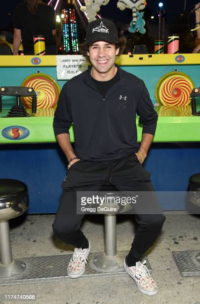 David Dobrik attends Hilarity For Charity's County Fair hosted by Seth Rogen Lauren Miller Rogen at The Row on September 14 2019 in Los Angeles...