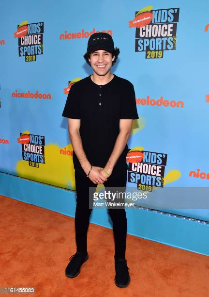 David Dobrik attends Nickelodeon Kids' Choice Sports 2019 at Barker Hangar on July 11 2019 in Santa Monica California