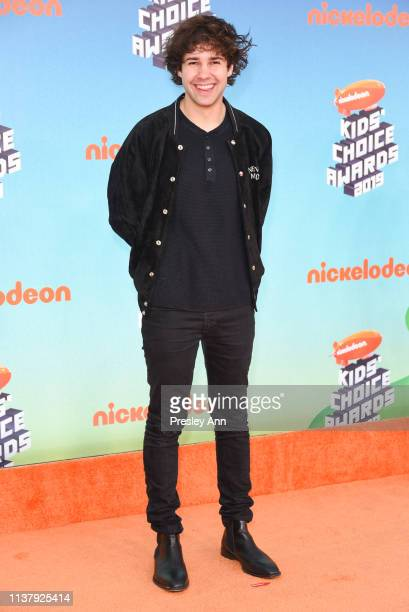 David Dobrik attends Nickelodeon's 2019 Kids' Choice Awards at Galen Center on March 23 2019 in Los Angeles California