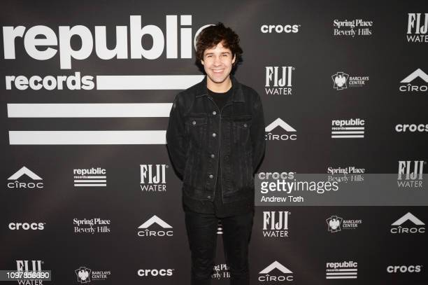 David Dobrik attends Republic Records Grammy after party at Spring Place Beverly Hills on February 10 2019 in Beverly Hills California