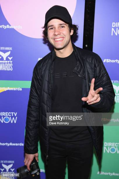David Dobrik attends the 10th Annual Shorty Awards After Party at Moxy Hotel on April 15 2018 in New York City