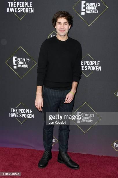 David Dobrik attends the 2019 E People's Choice Awards at Barker Hangar on November 10 2019 in Santa Monica California