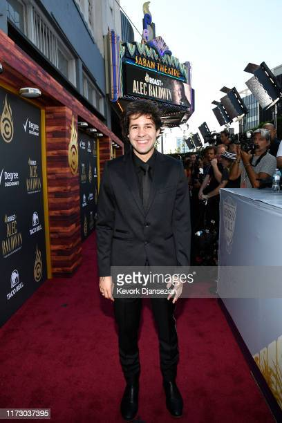 David Dobrik attends the Comedy Central Roast of Alec Baldwin at Saban Theatre on September 07 2019 in Beverly Hills California