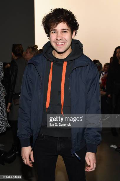 David Dobrik attends the front row at the Cynthia Rowley fashion show February 2020 New York Fashion Week The Shows at Gallery I at Spring Studios on...