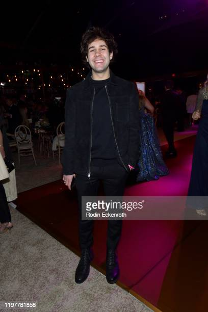 David Dobrik attends The Walt Disney Company 2020 Golden Globe Awards PostShow Celebration at The Beverly Hilton Hotel on January 05 2020 in Beverly...