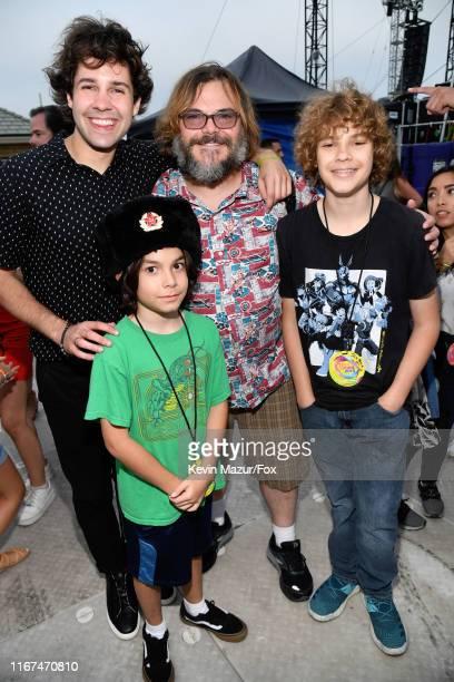 David Dobrik, Thomas David Black, Jack Black, and Samuel Jason Black attend FOX's Teen Choice Awards 2019 on August 11, 2019 in Hermosa Beach,...