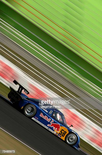 David Donahue and Darren Law drive the Red Bull Brumos Porsche Riley during the GrandAm Rolex Sports Car Series race on March 3 2007 at the Autodromo...