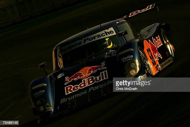 David Donahue and Darren Law drive the Red Bull Porsche Riley during the GrandAm Rolex Sports Car Series race on March 3 2007 at the Autodromo...