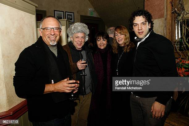 David Dorn BMI Executive Doreen Ringer Ross journalist Vera Anderson and composer Enis Rottoff attend the BMI Zoom Dinner during the 2010 Sundance...