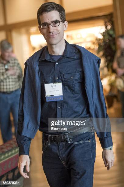 David Dorn professor of international trade and labor markets at the University of Zurich arrives for a dinner during the Jackson Hole economic...