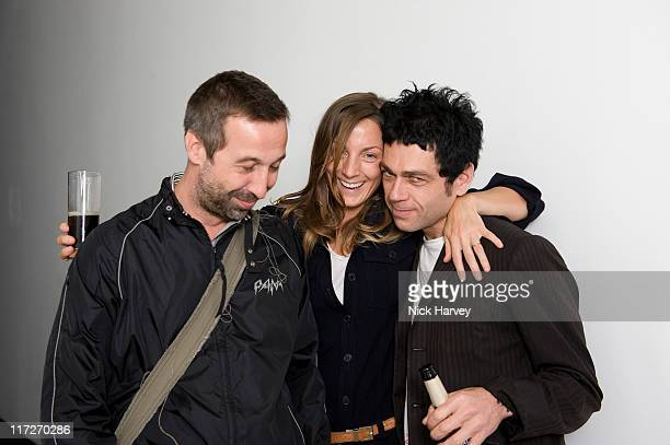 David Dorrell Phoebe Philo and Tim Webster attend Marine Hugonnier's 'The Secretary of the Invisible' exhibition private view at the Max Wigram...
