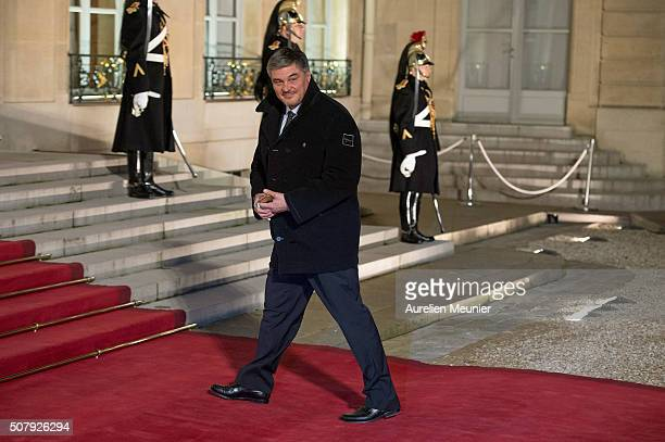 David Douillet arrives at Elysee Palace as French President Francois Hollande receives the Cuban President Raul Castro for a State Diner on February...