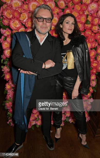 David Downton and Caroline Francischini attend a private dinner hosted by Michael Kors to celebrate the new Collection Bond St Flagship Townhouse...