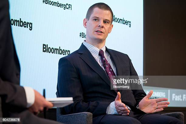 David Doyle North American economist and Canadian strategist for the Macquarie Group Ltd speaks during the Bloomberg Markets Canadian Fixed Income...