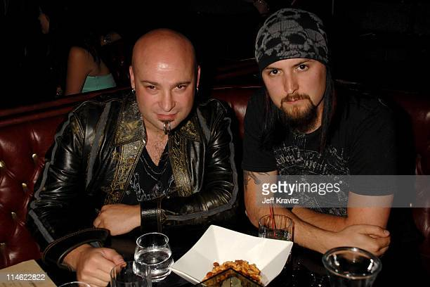 David Draiman and Mike Wengren of Disturbed during First Annual Spike TV's Guys Choice - Backstage and Audience at Radford Studios in Los Angeles,...