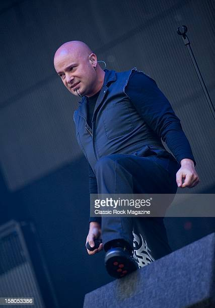 David Draiman from Disturbed live onstage at Download Festival 2011 Donington Park Leicester June 12 2011