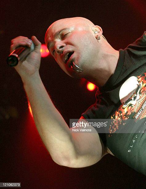 David Draiman of Disturbed during Disturbed in Concert at the House of Blues in Atlantic City December 11 2005 at The House of Blues at the Showboat...
