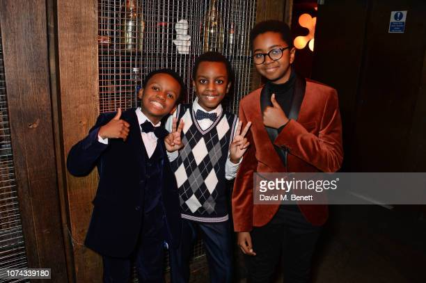 David Dube Josiah Choto and Mark Mwangi attend the press night after party for 'Caroline Or Change' at the Foundation Bar on December 17 2018 in...