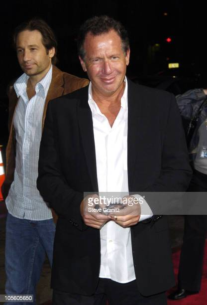 """David Duchovny and Garry Shandling during """"Friday Night Lights"""" Los Angeles Premiere - Arrivals at Grauman's Chinese Theatre in Hollywood,..."""
