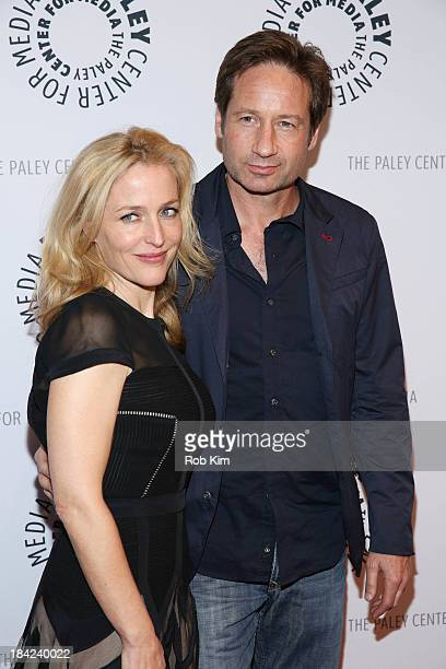David Duchovny and Gillian Anderson attend The Truth Is Here David Duchovny And Gillian Anderson On The XFiles presented by the Paley Center For...