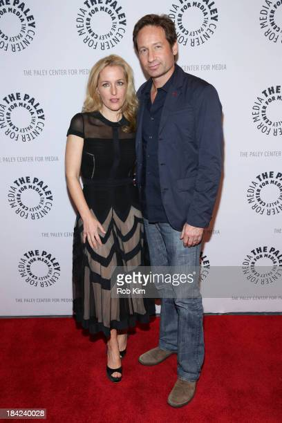 David Duchovny and Gillian Anderson attend 'The Truth Is Here David Duchovny And Gillian Anderson On The XFiles' presented by the Paley Center For...