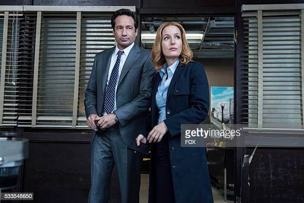 David Duchovny and Gillian Anderson in the Home Again episode of THE XFILES airing Monday Feb 8 on FOX